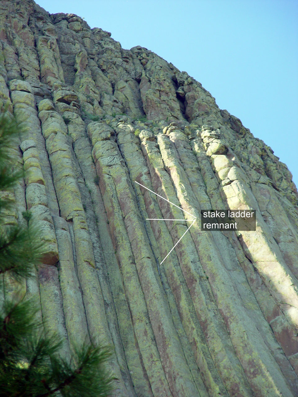Wooden Plank Ladder Devils Tower ~ Our beautiful planet