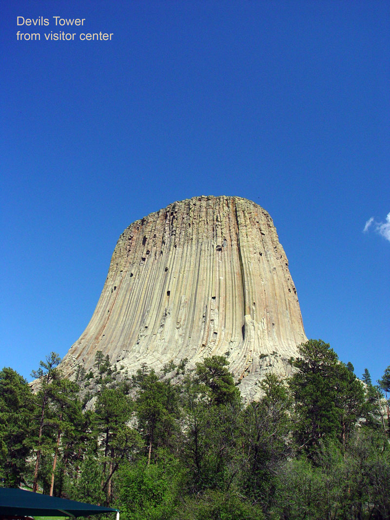 Devils tower from visitor center