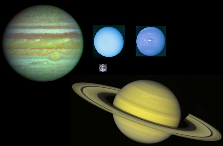the jovian planets by size - photo #3